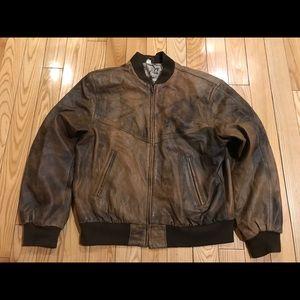Vintage Fighter Pilot leather jacket Scotland map
